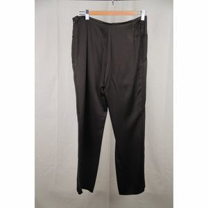 ARMANI COLLEZIONI Black Satin Panelled PANTS Trousers SIZE 42