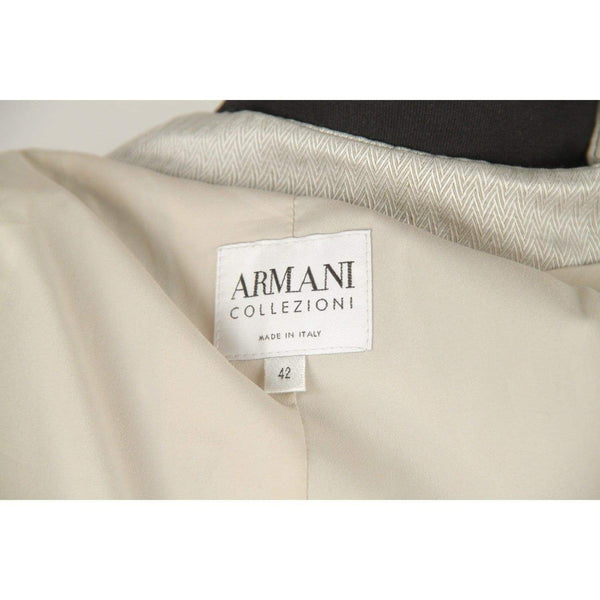 Armani Collezioni Light Gray Linen Blend Jacket Size 42 Opherty & Ciocci
