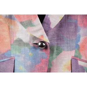 ARMANI COLLEZIONI Multicolored Linen Blend BLAZER Jacket SIZE 42
