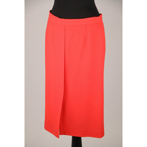 Armani Collezioni Red Wool Pencil Skirt Size 42 Opherty & Ciocci