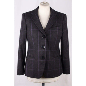 Giorgio Armani Black Label Gray Checkered Cashmere Blazer Jacket Size 42 Opherty & Ciocci