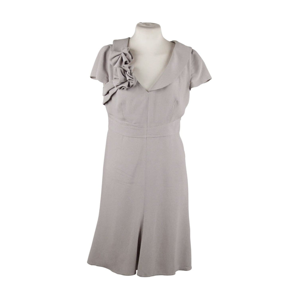Giorgio Armani Gray Silky Mini Skater Dress Cap Sleeves Size 40 Opherty & Ciocci