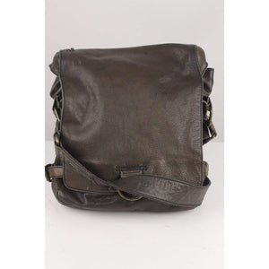Green Leather Messenger Bag Opherty & Ciocci