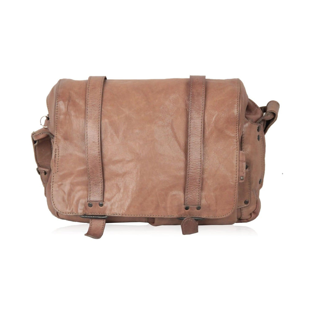 Aunts & Uncles Tan Leather Messenger Bag Crossbody Opherty & Ciocci