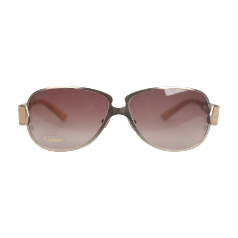 Silver Beige Aligator Leather Sunglasses T8200724
