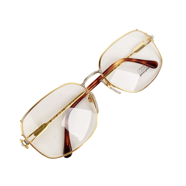 Gerald Genta Vintage Eyeglasses Gold and Gold Plated 08 OB 61-18 145mm