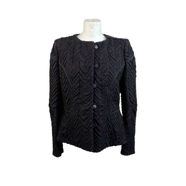 Giorgio Armani Black Label Vintage Textured Wool Blazer Jacket Size 46 - OPHERTY & CIOCCI