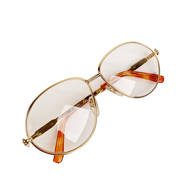 Gerald Genta Vintage Eyeglasses Gold Plated New Classic 06 140 mm