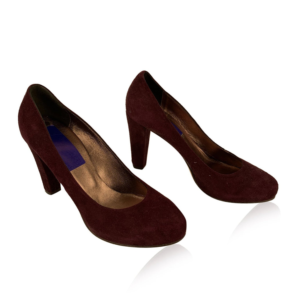 Pennyblack Purple Suede Closed Toe Shoes Pumps Heels Size 40 - OPHERTY & CIOCCI