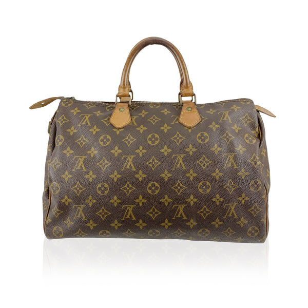 Louis Vuitton Vintage Monogram Canvas Speedy 35 Handbag