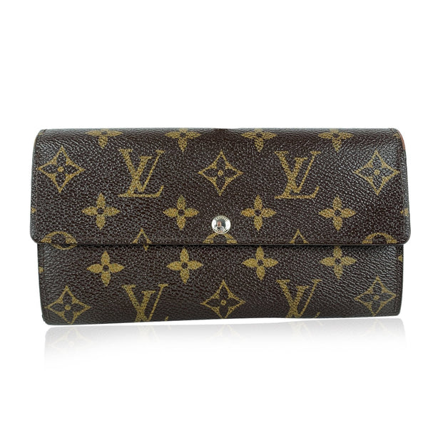 Louis Vuitton Vintage Monogram Brown Bifold Long Sarah Clutch Wallet