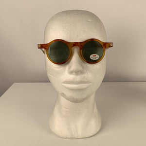 True Vintage 1980s Round Steampunk Unisex Sunglasses by Optimo Made in Italy