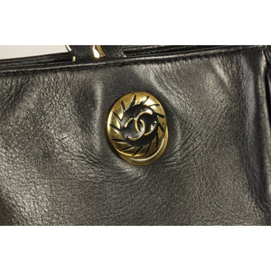 Chanel Vintage Leather Shopping Bag