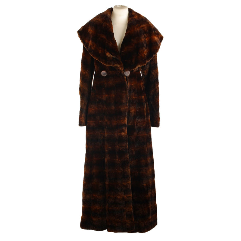 Fendi Mole Fur Long  Coat