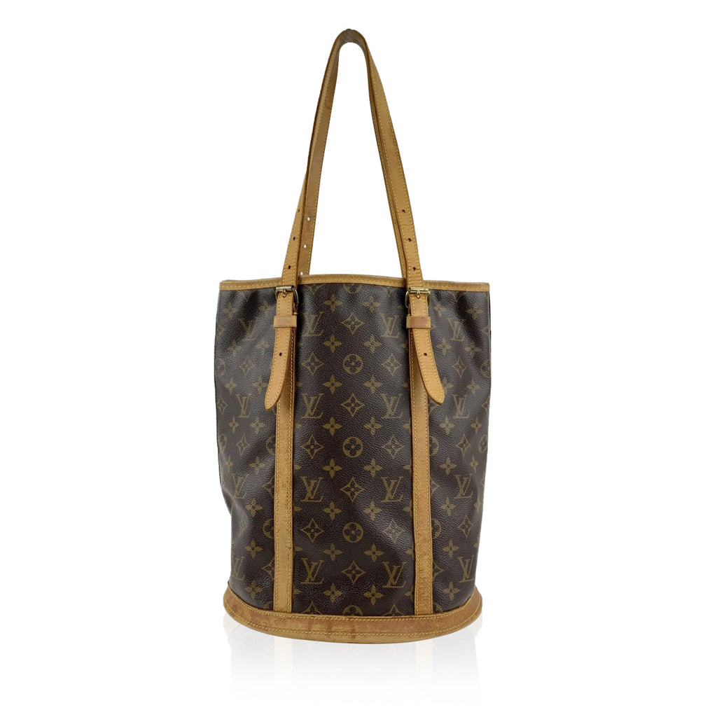 Louis Vuitton Brown Monogram Canvas Bucket GM Tote Shopping Bag