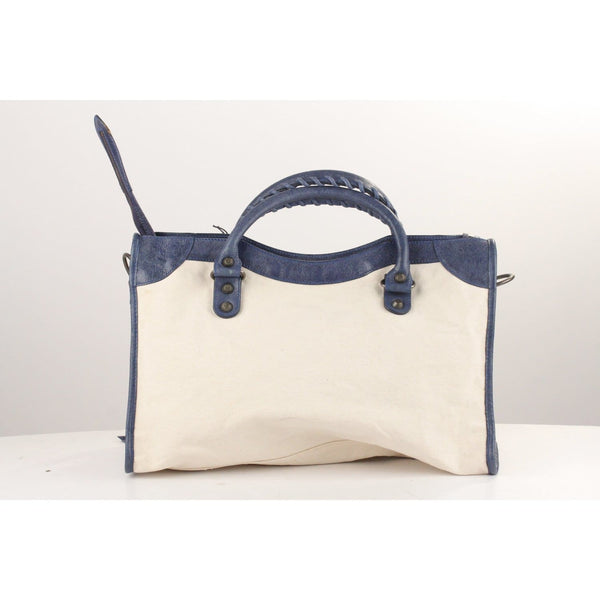 Canvas And Leather Classic City Bag Opherty & Ciocci