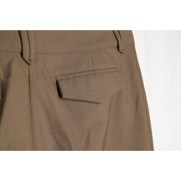 Balenciaga Miltary Green Wool Blend Bermuda Trousers Pants Size 38 Opherty & Ciocci