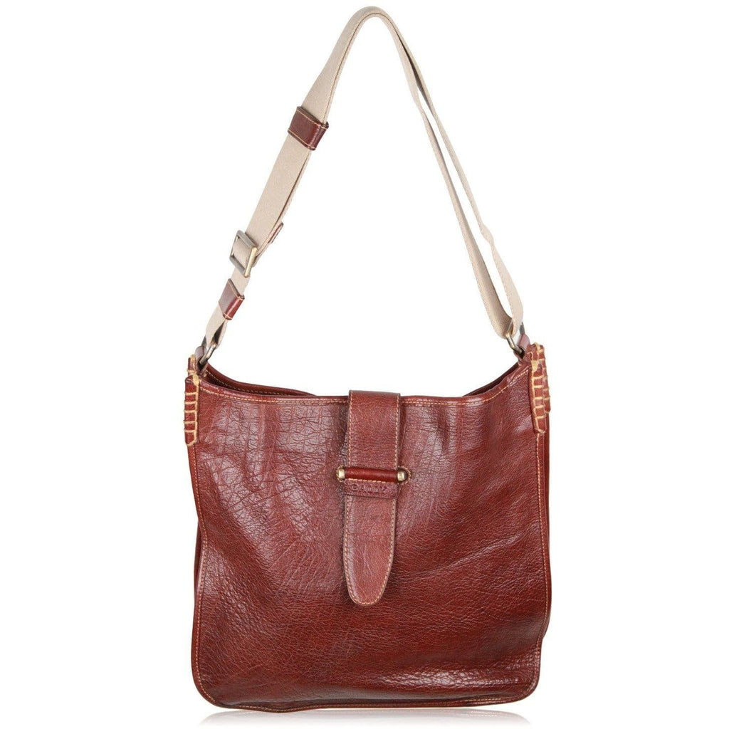 Bally Brown Leather Shoulder Bag Tote Opherty & Ciocci
