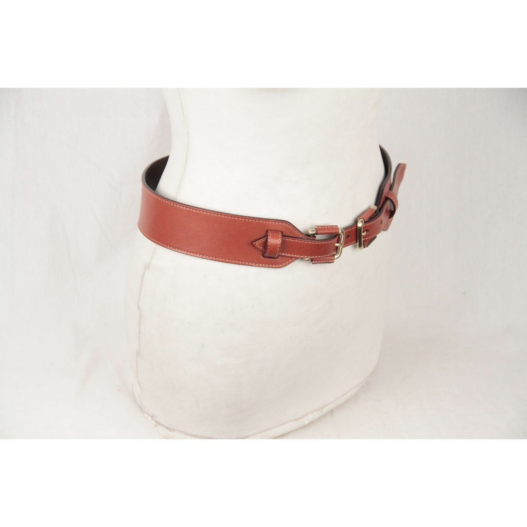 Bally Light Brown Leather Belt Size 85/34 Opherty & Ciocci