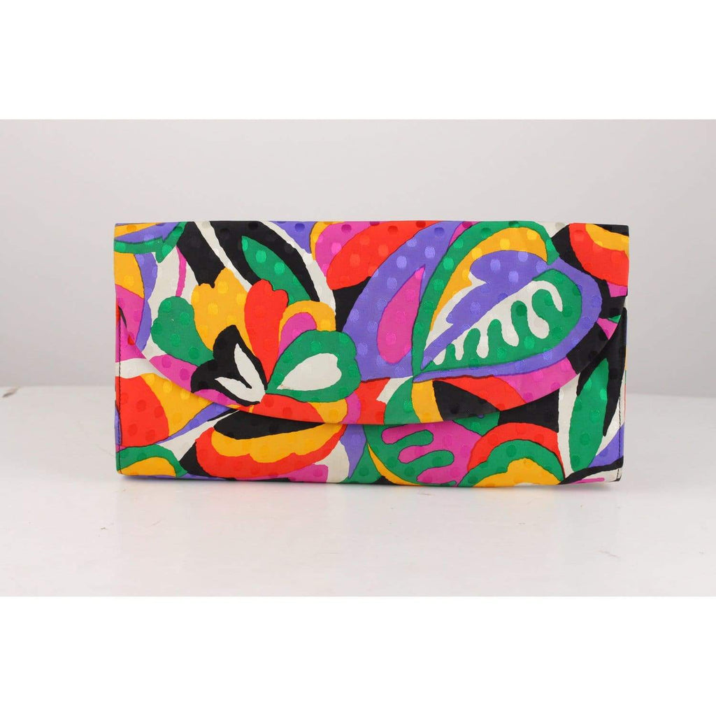 Multicolor Fabric Clutch Bag Opherty & Ciocci