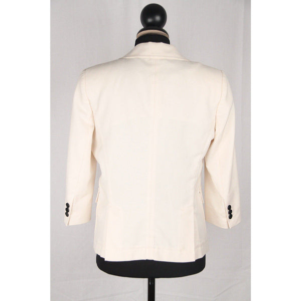 Band Of Outsiders Ivory Cotton Blazer Jacket 3/4 Sleeves Size 2 Opherty & Ciocci