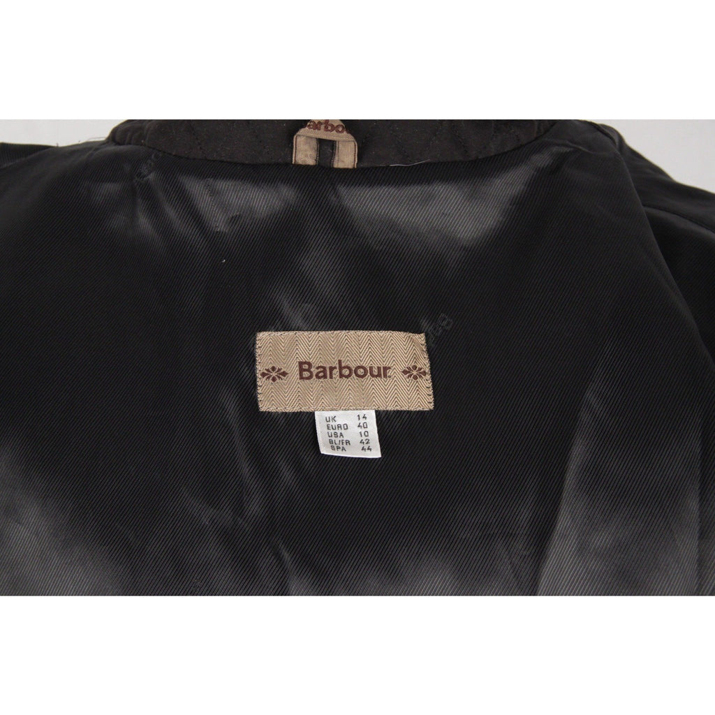 BARBOUR Black Tailored Microfibre QUILTED JACKET Padded Windcheater SIZE 14 - OPHERTYCIOCCI