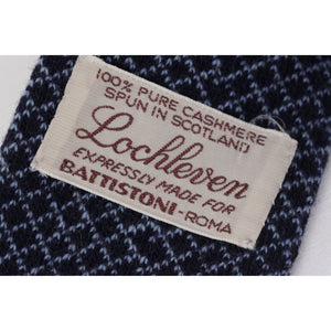 BATTISTONI Blue Pure Cashmere Knitted NECK TIE Diamond Pattern RR
