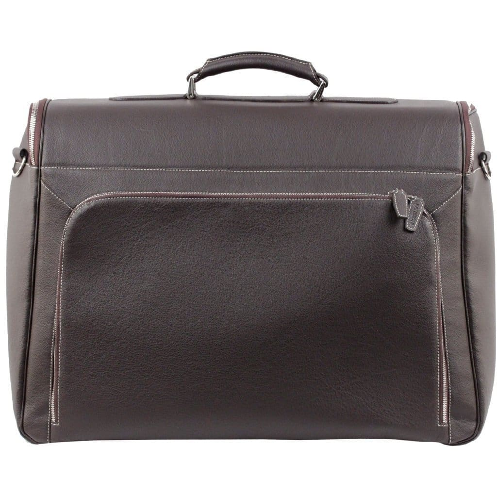 Battistoni Brown Leather Garment Carrier Bag Travel Suit Cover W/ Wash Bag Opherty & Ciocci