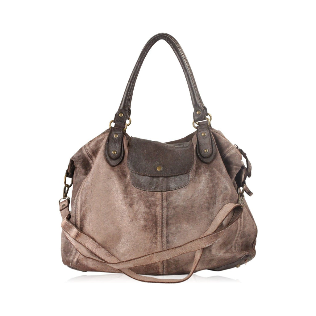 Distressed Leather Tote Bag Opherty & Ciocci