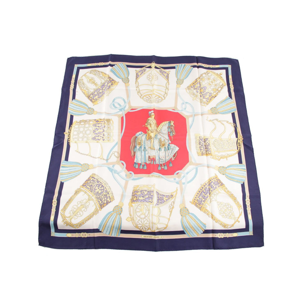 Hermes  Silk Scarf Les Muserolles 1986 by Christiane Vauzelles