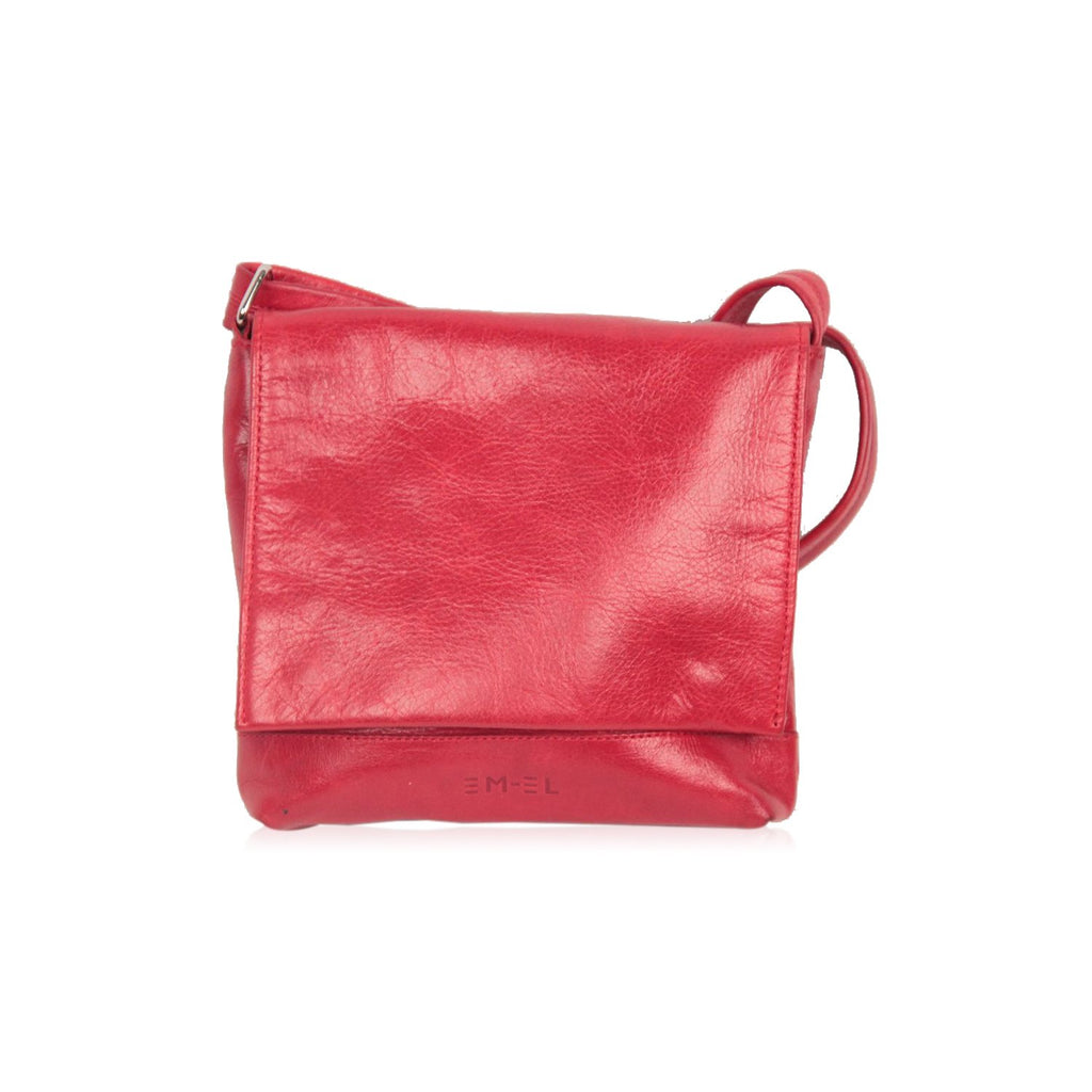 EM-EL Red Leather MESSENGER BAG Urban Crossbody Shoulder Bag - OPHERTY & CIOCCI