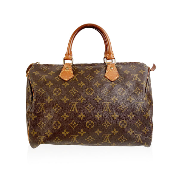 Louis Vuitton Vintage Brown Monogram Canvas Speedy 30 Bag