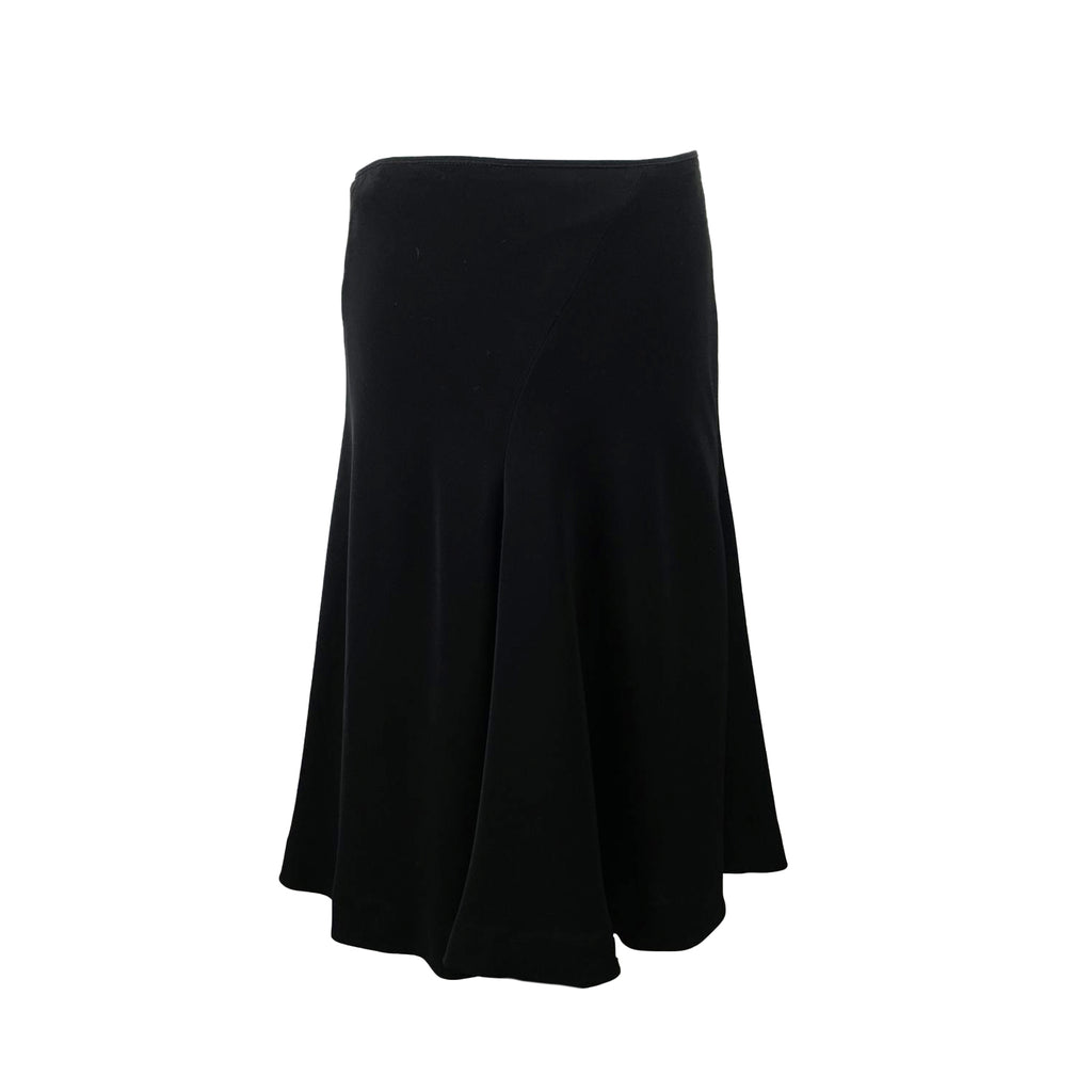 Les Copains Vintage Black Midi Flared Skirt Size 44 IT