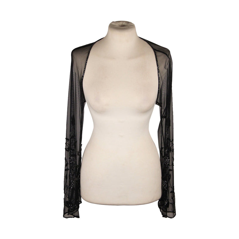 Black Mesh EVENING Beaded SHRUG
