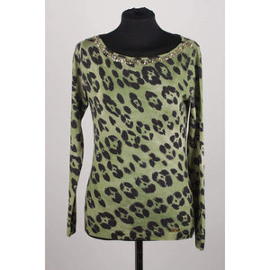 Animalier Wool Embellished Jumper Opherty & Ciocci
