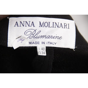 Blumarine Anna Molinari Black Sleeveless Pinafore Dress Size 40 Opherty & Ciocci