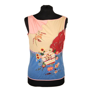 BLUMARINE Embroidered Cotton SLEEVELESS TOP Size 42