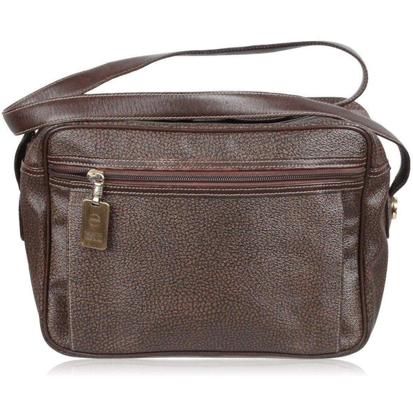 Borbonese Brown Patridge Eye Canvas Messenger Bag Opherty & Ciocci