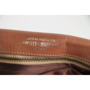 Bottega Veneta For Mandelles Vintage Tan Leather Clutch Purse Opherty & Ciocci