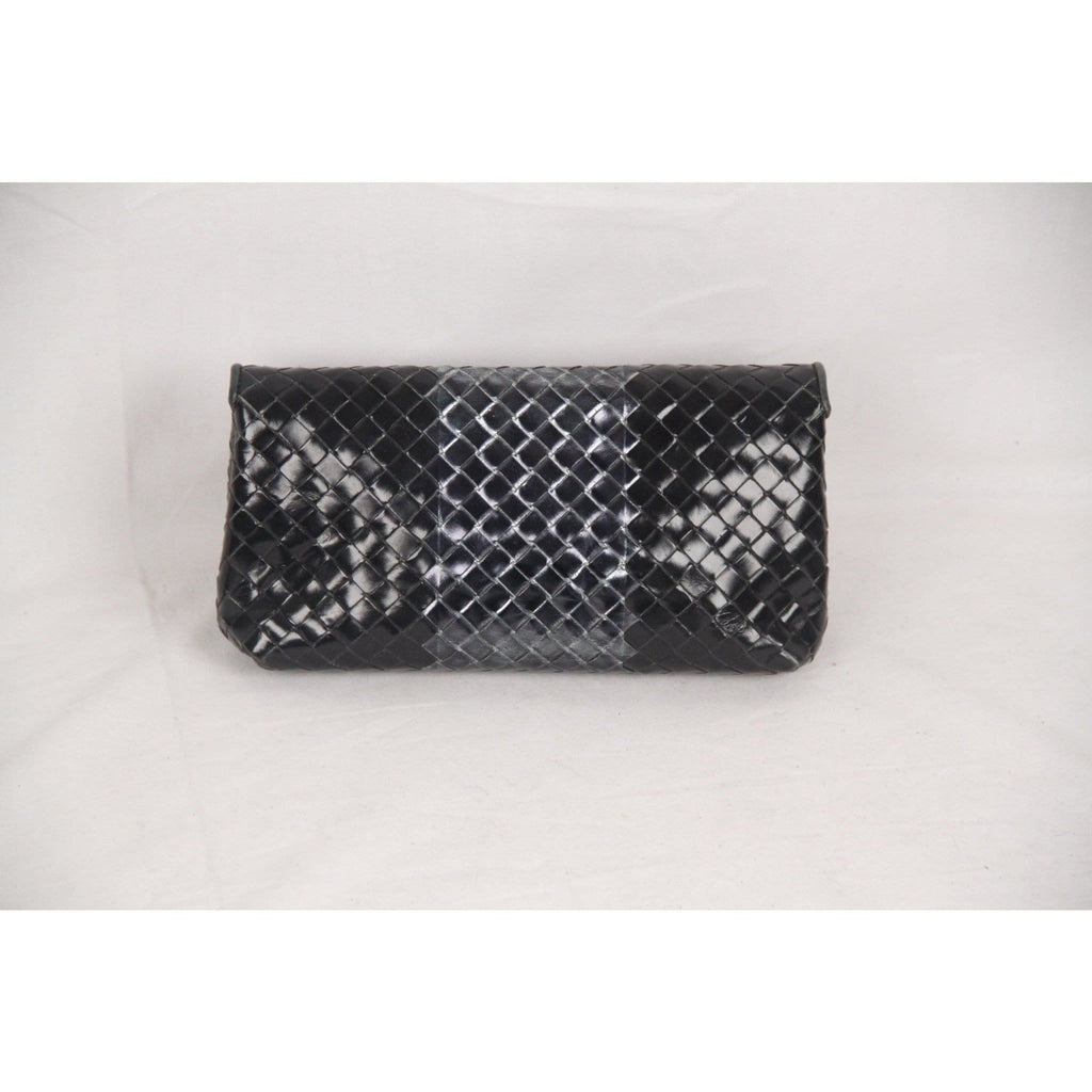 Bottega Veneta Metallic Intrecciato Leather Clutch Pouch Opherty & Ciocci
