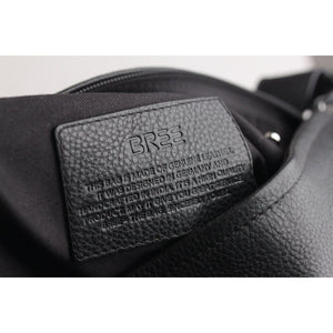 Black Leather Unisex Shoulder Bag Opherty & Ciocci