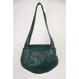 Bree Green Leather Shoulder Bag Tote Opherty & Ciocci