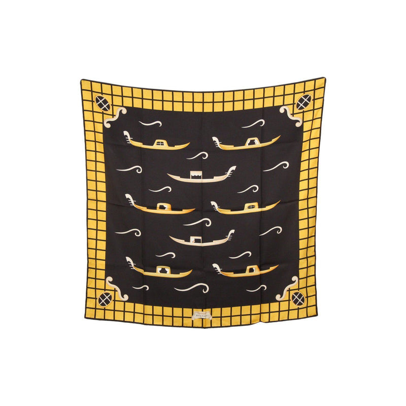 Bulgari Bvlgari Yellow Black Silk Scarf By Davide Pizzigoni Opherty & Ciocci