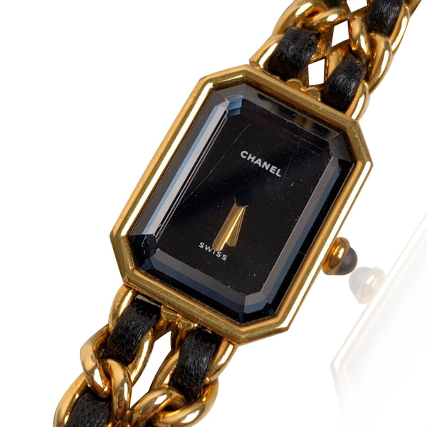Chanel Black Gold Plated Stainless Steel Premiere Watch