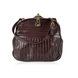 Emilio Pucci Vintage Brown Quilted Shoulder Bag