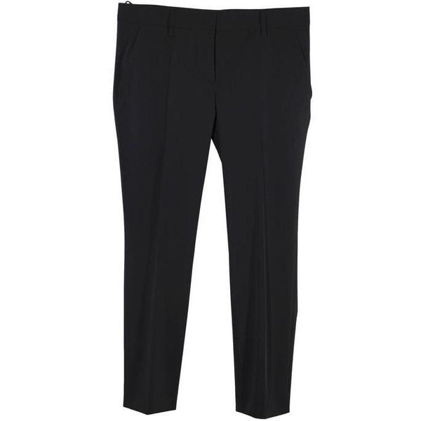 Prada Black Poly Techno Fabric Tailored Trousers Pants Size 44 IT
