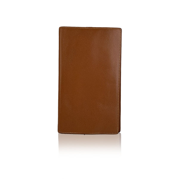 Hermes Vintage Tan Leather Agenda Notebook Cover