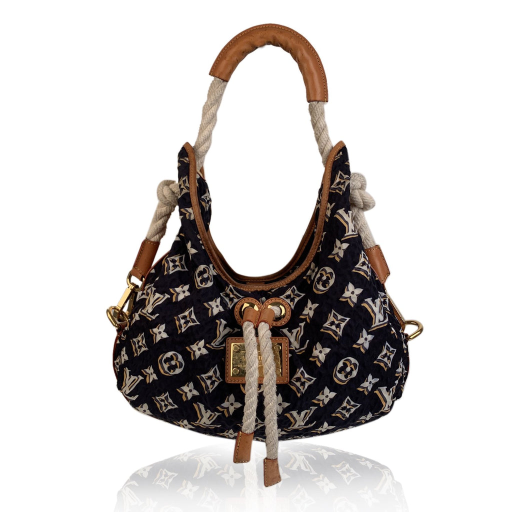 Louis Vuitton Limited Edition Navy Cruise Bulles MM Hobo Bag