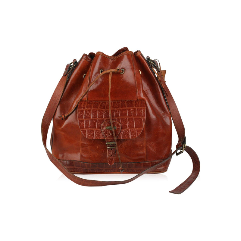 Drawstring Bucket Shoulder Bag