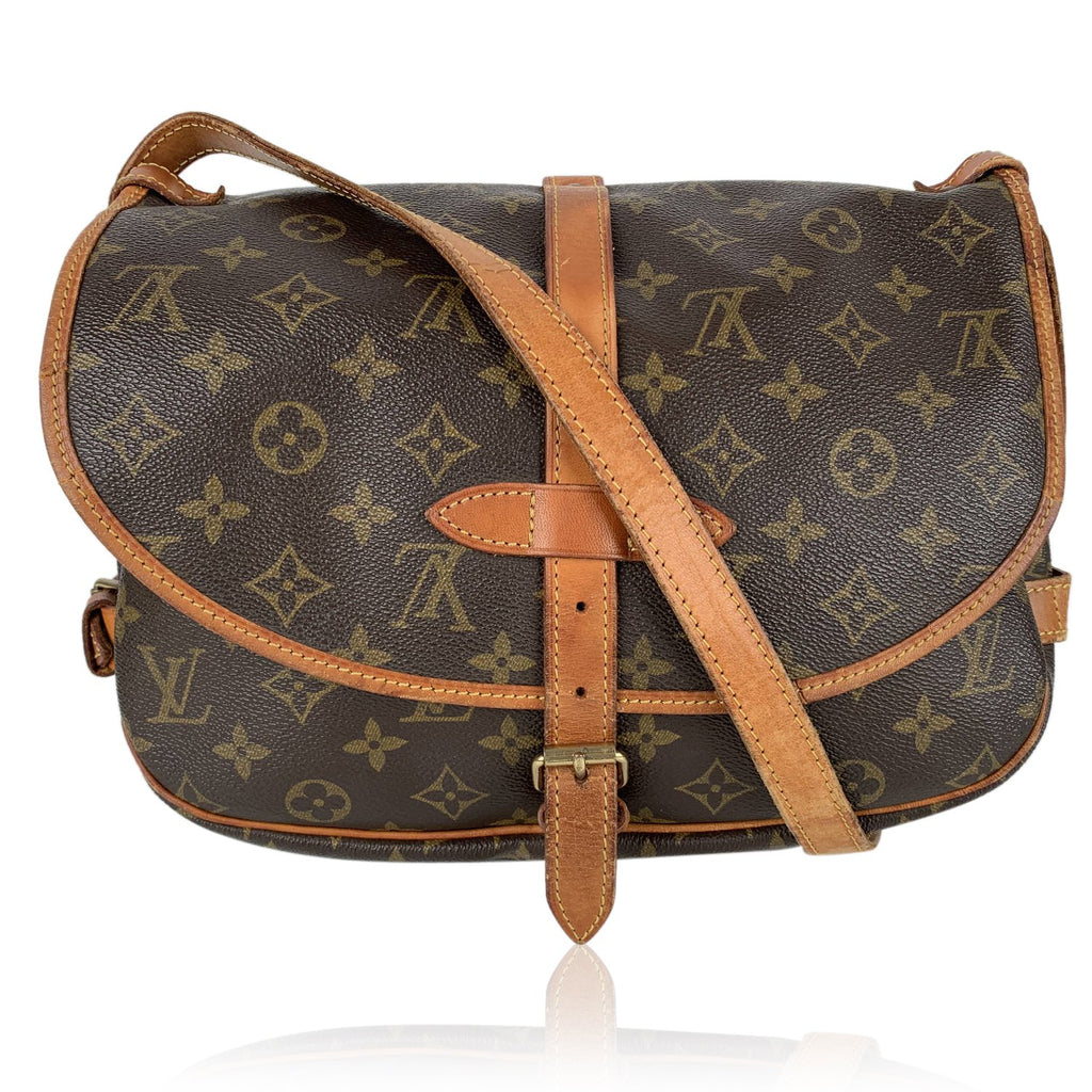 Louis Vuitton Vintage Monogram Canvas Saumur 30 Crossbody Shoulder Bag